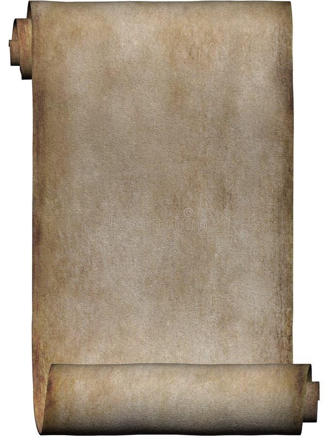 Download Manuskriptparchmentrulle stock illustrationer. Illustration av yellow - 505424
