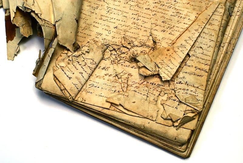 manuskrypt stary obrazy stock