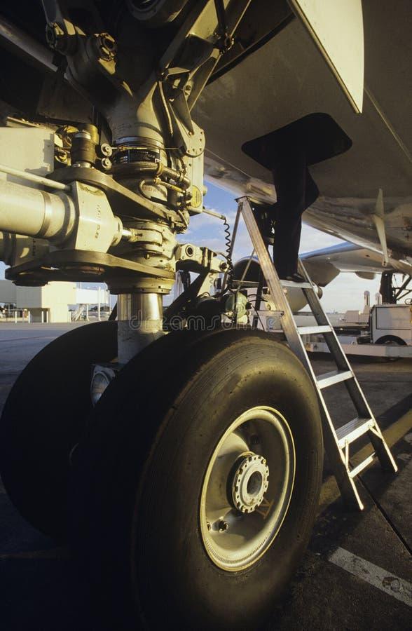 Manutenção de aviões Melbourne Austrália fotografia de stock royalty free