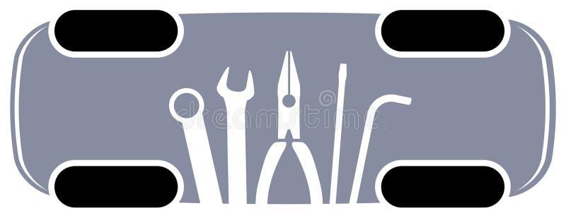 Manutenção do automóvel ilustração royalty free
