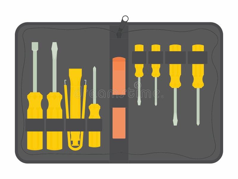 Manutenção do jogo de ferramentas ilustração do vetor
