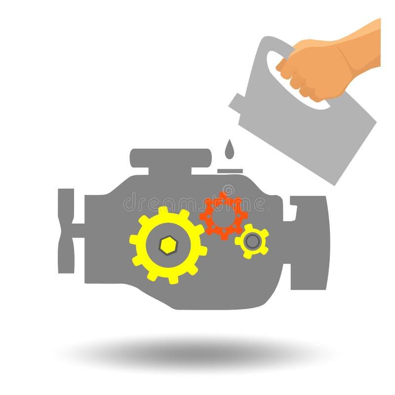 Manutenção do motor de automóveis ilustração royalty free