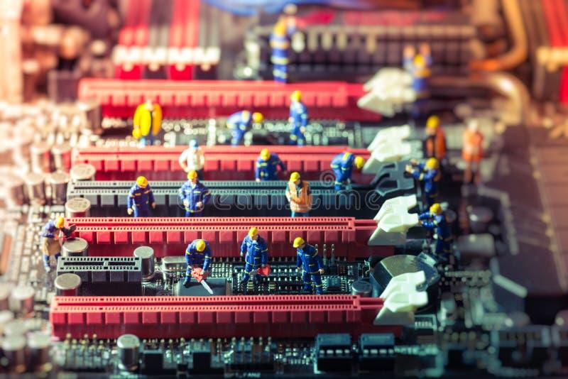 Manutenção do PC fotografia de stock royalty free