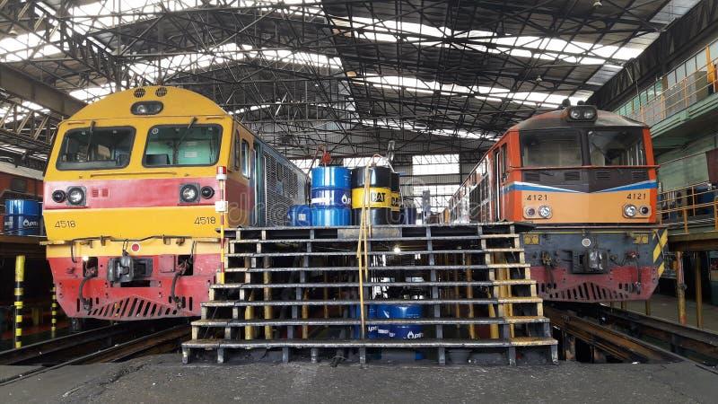 Manutenção locomotiva imagens de stock