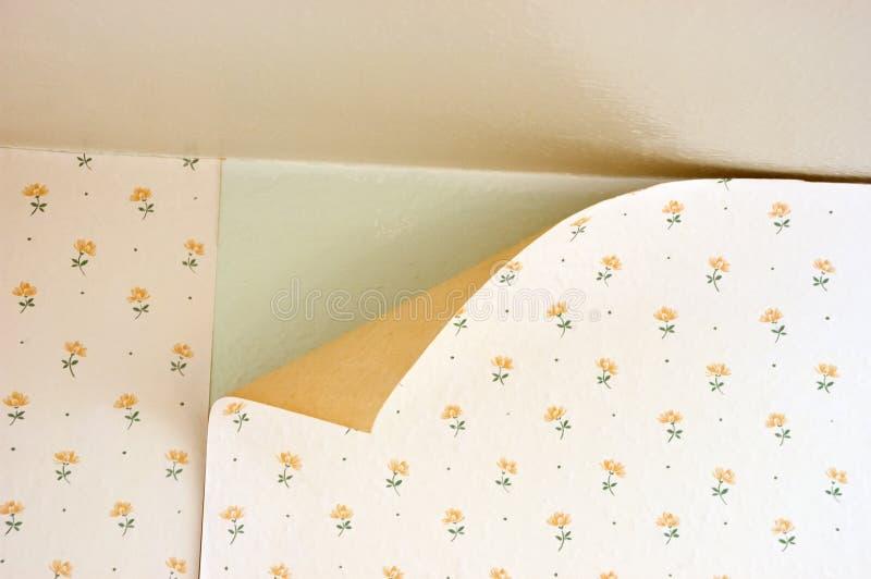 Manutenção velha do reparo da HOME do papel de parede da casca fotos de stock