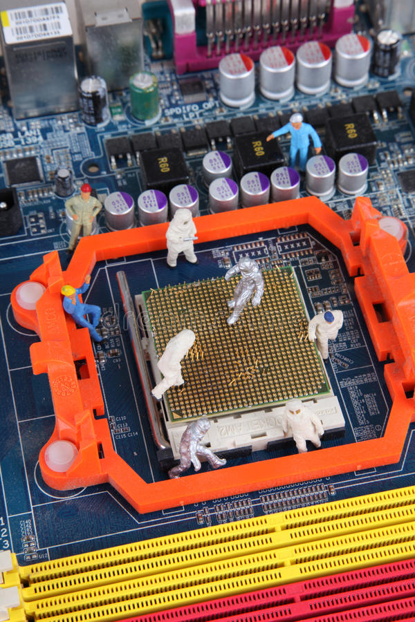 Manutenzione dell'IT fotografia stock libera da diritti