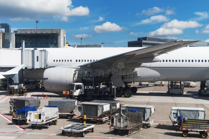 Manutenzione di aerei fotografia stock libera da diritti