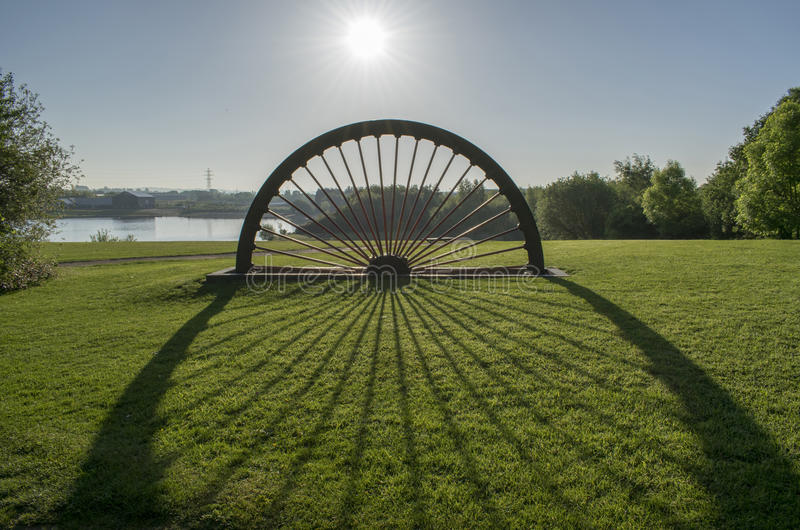 Manvers Lake Pit Head Winding Wheel stock photos