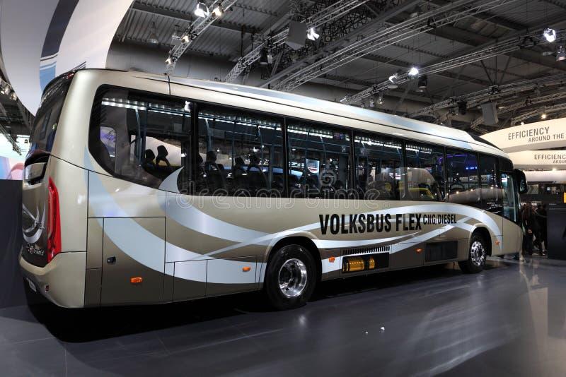 MANVolksbus Flex royaltyfria bilder