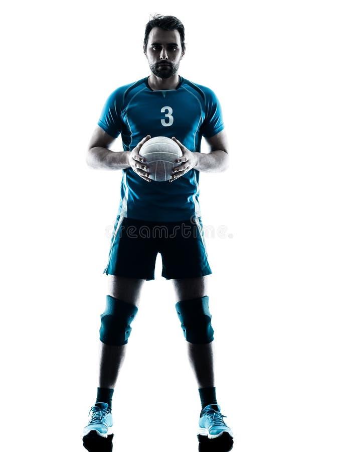 Manvolleybollkontur royaltyfria bilder