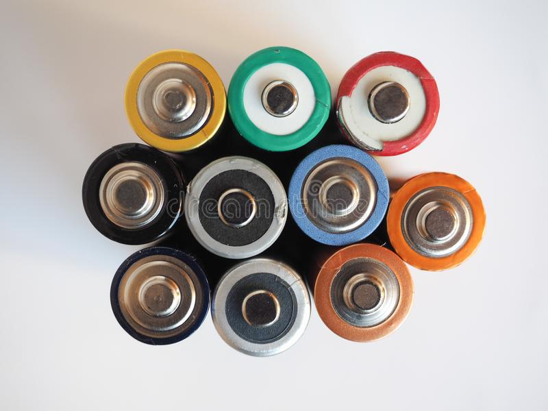 Many AA batteries. (aka Double A) for electronic devices royalty free stock image