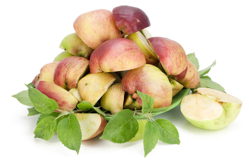 Many Apples Are Cut By Slices Royalty Free Stock Photo