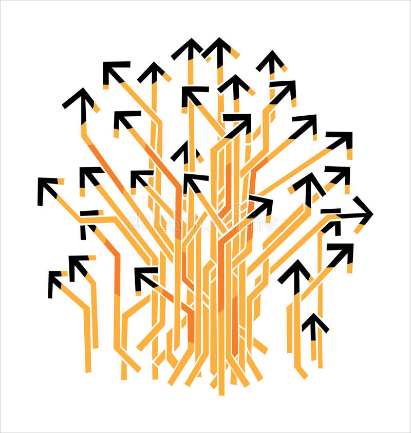 Download Many Arrows stock vector. Image of many, bunch, activeness - 33958388