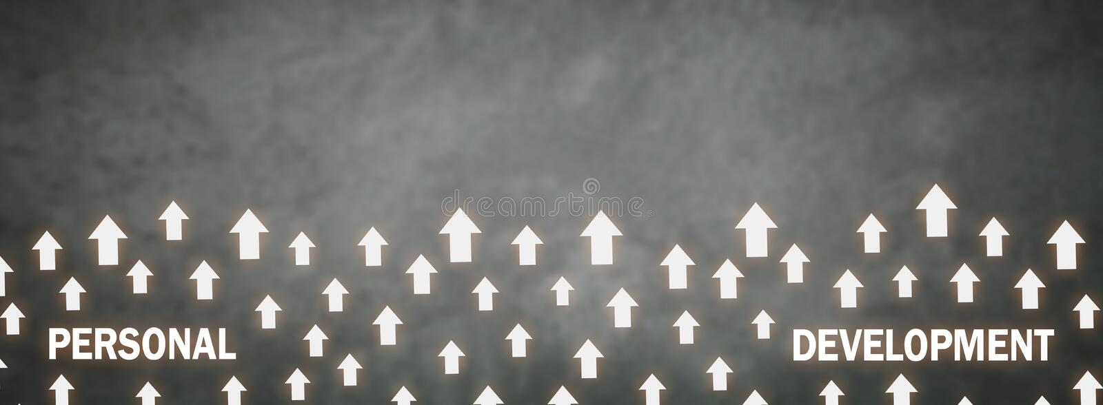 Many arrows. Personal development. Space for your text stock images