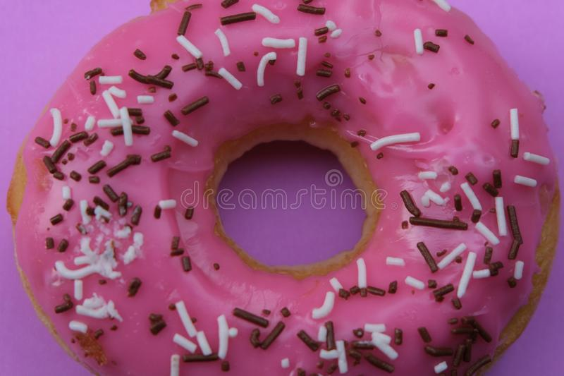 Donuts  on colorful background. Many Assorted donuts on a background stock image
