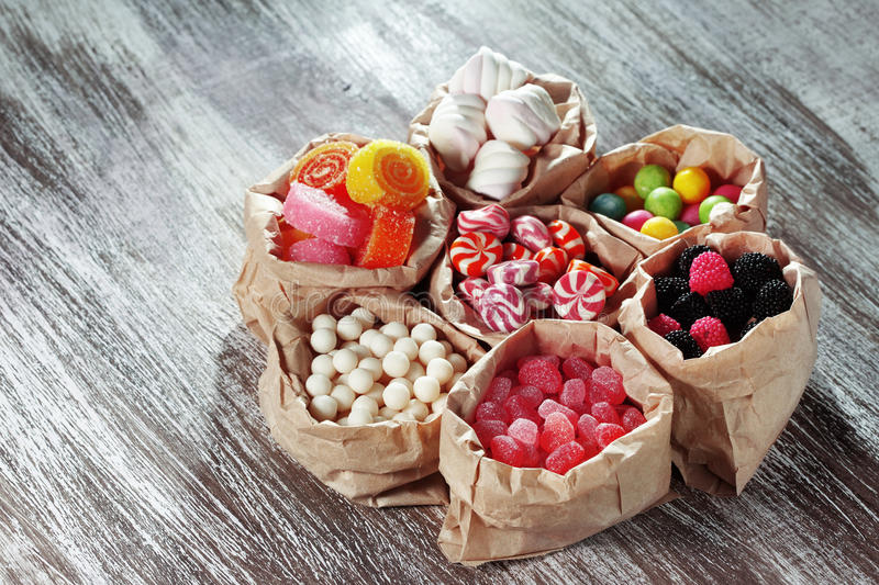 Download Candies stock image. Image of colorful, bags, round, background - 30234925