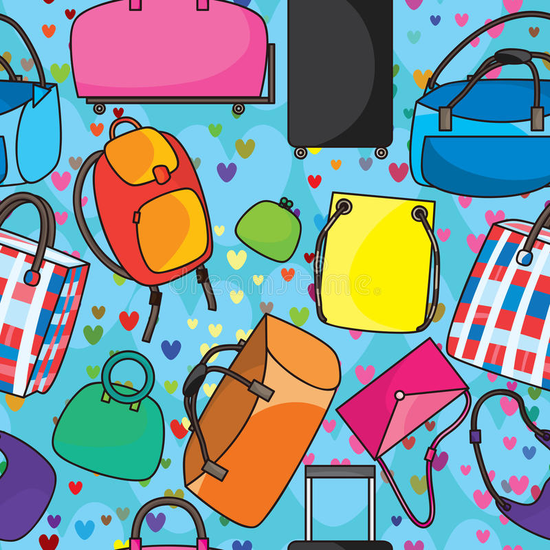 Download Many Bags Love Seamless Pattern_eps Stock Vector - Image: 33166593