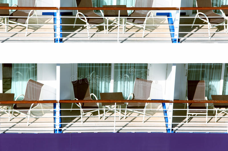 Download Many balconies on ship stock image. Image of side, cruise - 26281501