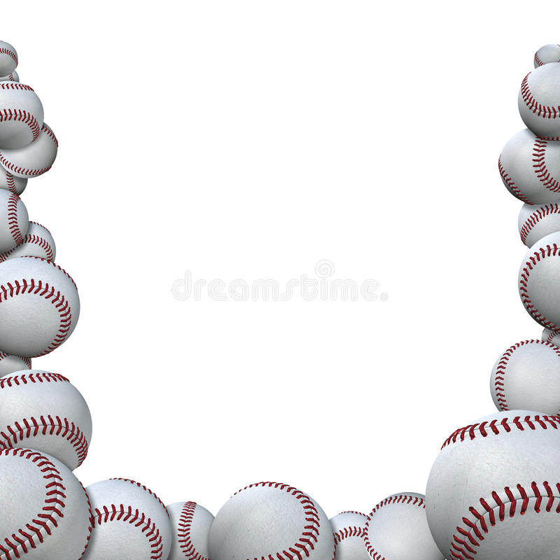 Download Many Baseballs Form Baseball Season Sports Border Royalty Free Stock Photography - Image: 13235867