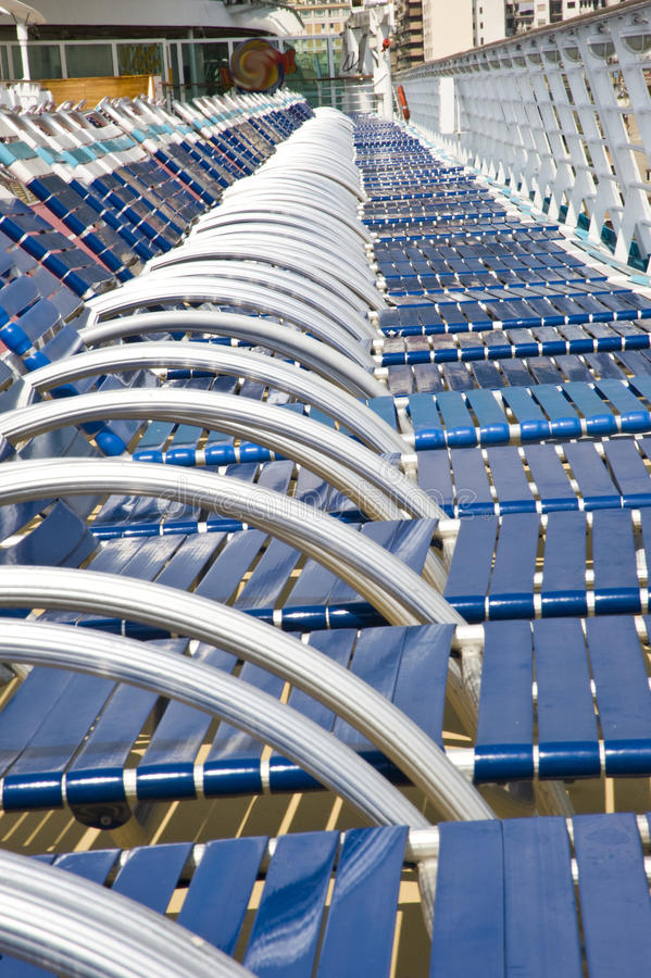 Download Many beach chairs stock photo. Image of cruise, travel - 20806944