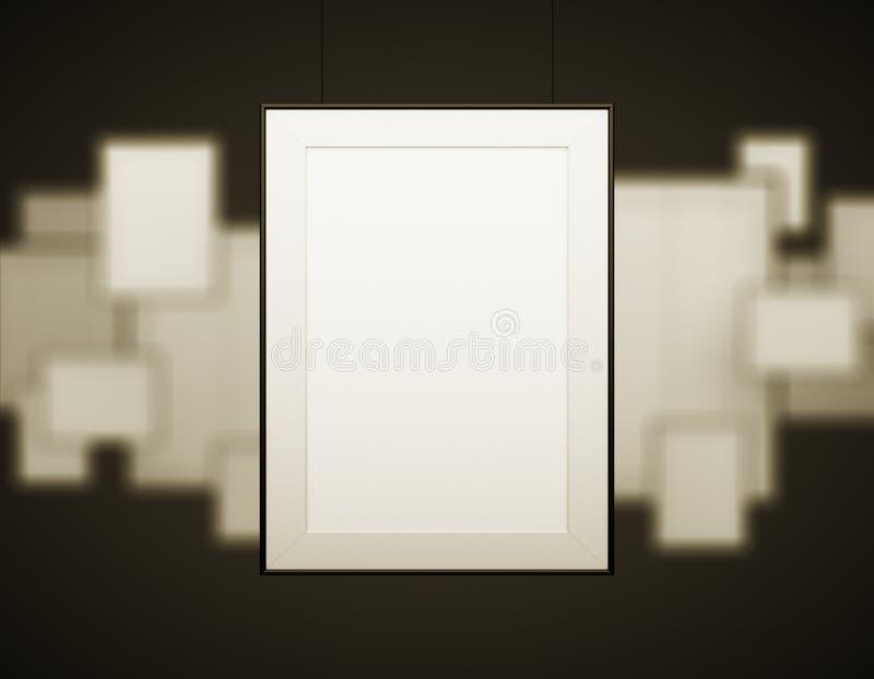 Many blank frame royalty free stock photo