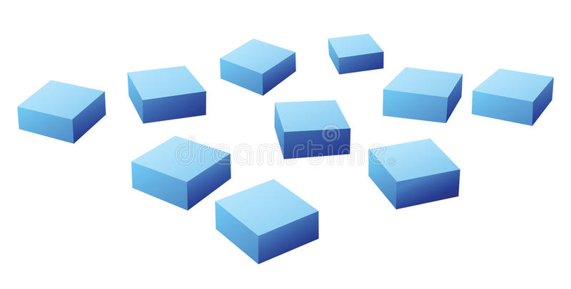 Download Many blue cubes stock vector. Image of many, square, blue - 20600327