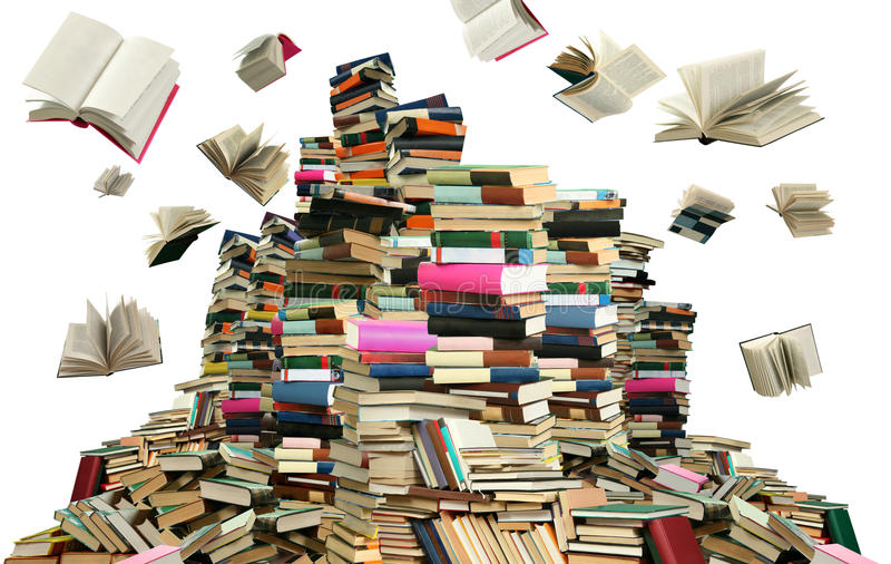 Many books stock image