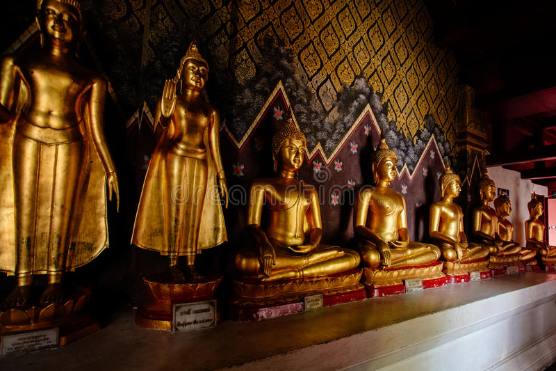 Many buddhas statue stock photos