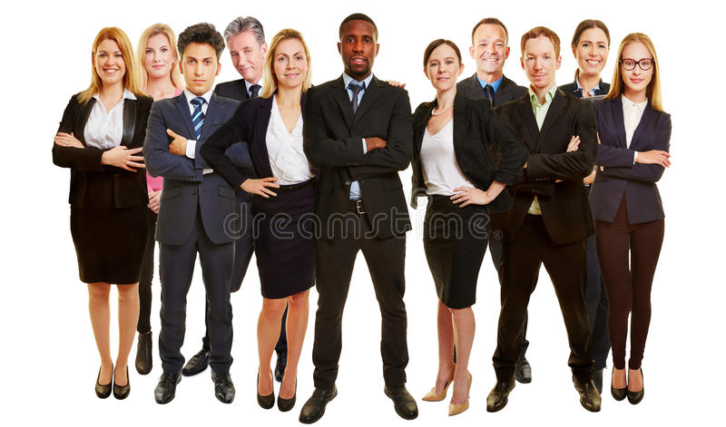 Many business consultants as team royalty free stock image