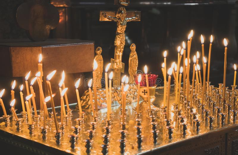 Many candles. royalty free stock image