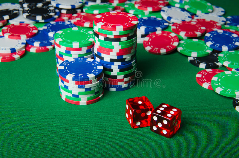Download Many Cards And Casino Chips Stock Image - Image of number, green: 24346897