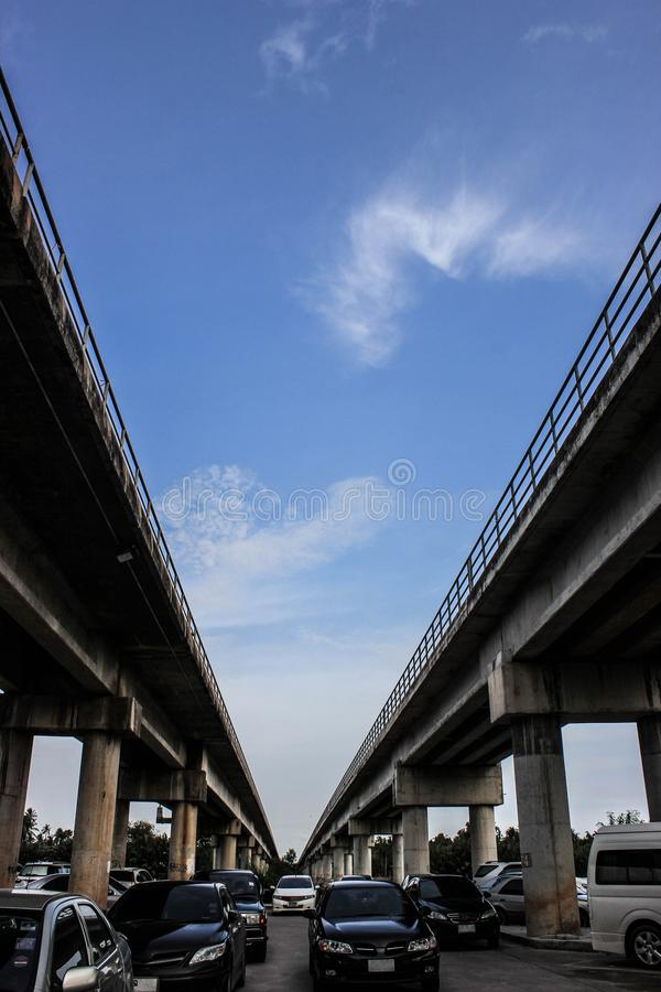 Traffic jam in Thailand royalty free stock photo