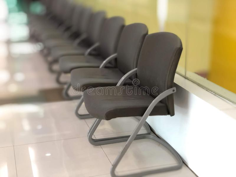 Many chairs in clinic stock photo