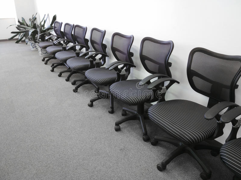 Office chairs. On the office for meeting stock image