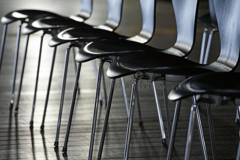 Many chairs royalty free stock images