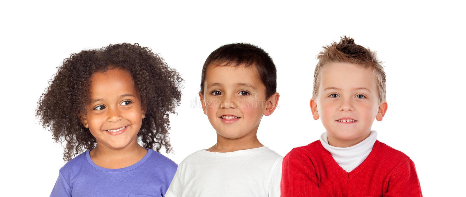 Many children royalty free stock images