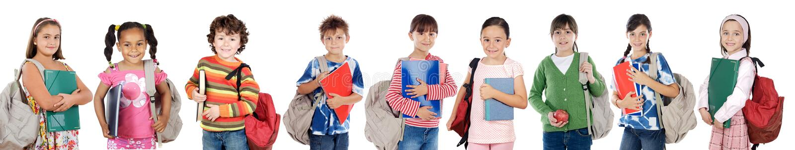 Download Many Children Students Returning To School Stock Image - Image: 6699879