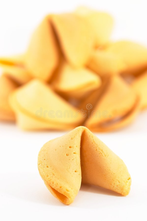 Many Chinese fortune cookie one stand out royalty free stock image