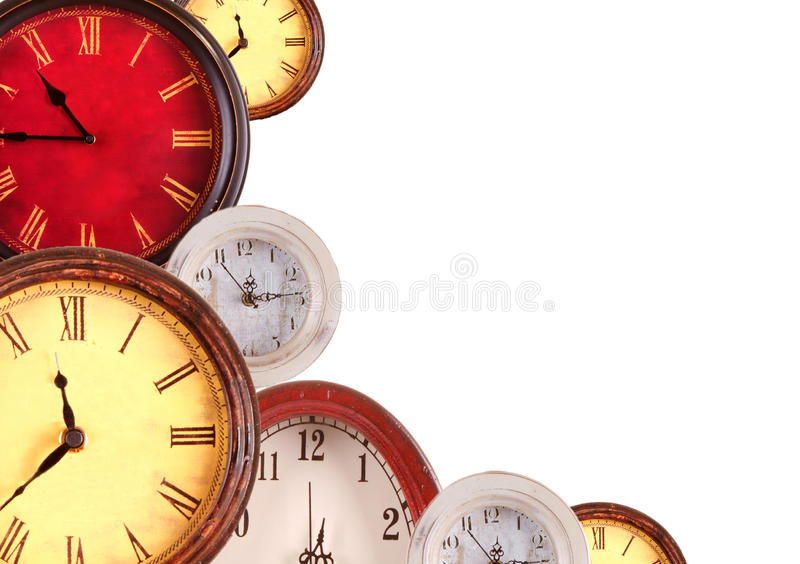 Download Many Clocks On A White Background Royalty Free Stock Photo - Image: 25952525