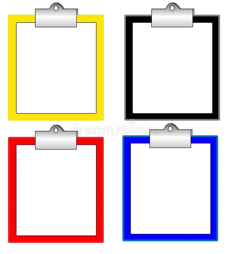 Download Many color clipboard stock illustration. Image of computer - 30533908