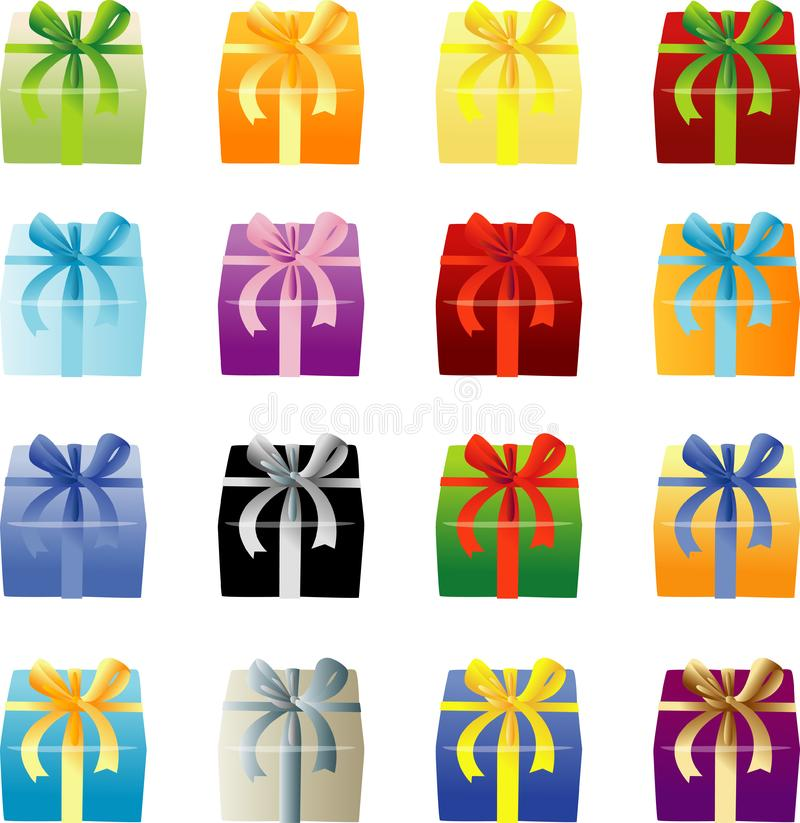 Many Color Giftboxes royalty free stock photography