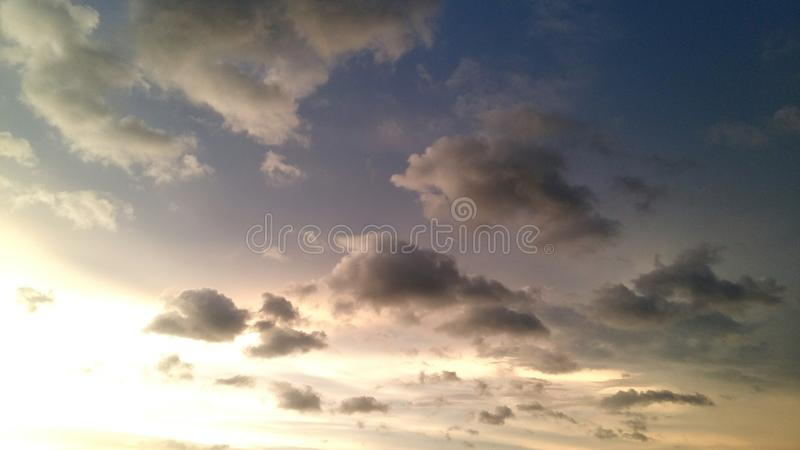 Many color sky. Sky and leaf pic royalty free stock photos