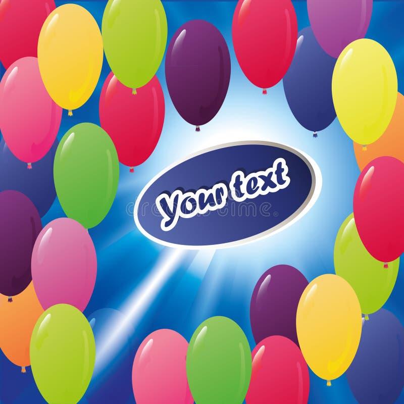 Many Colored Balloons Royalty Free Stock Photos
