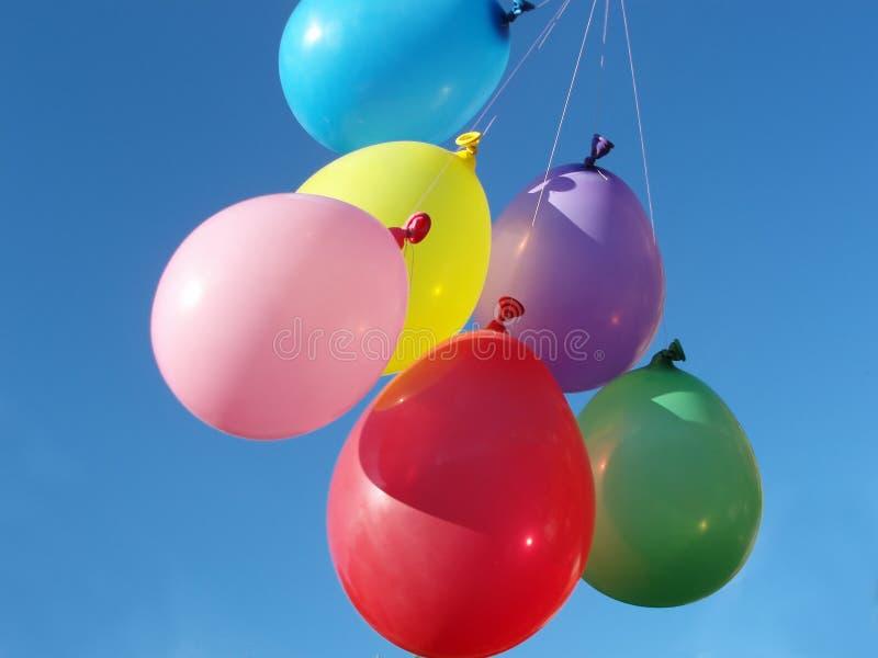 Many colored balloons stock photos