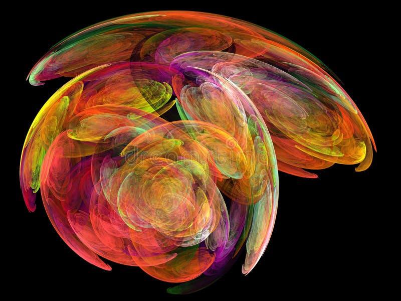 Many colored fractal vector illustration