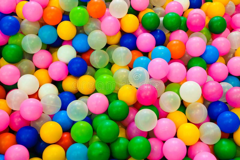 Many colored gaming plastic balls for children play areas.  stock photos