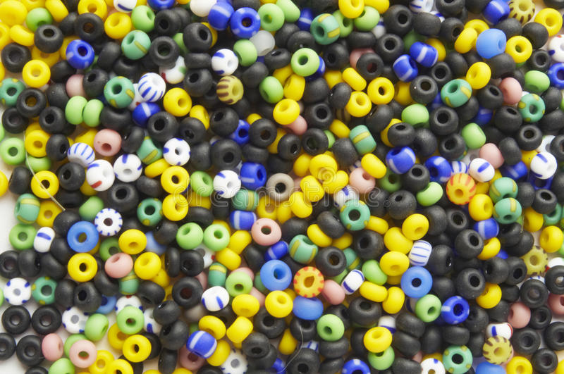 Many-colored mix of beads