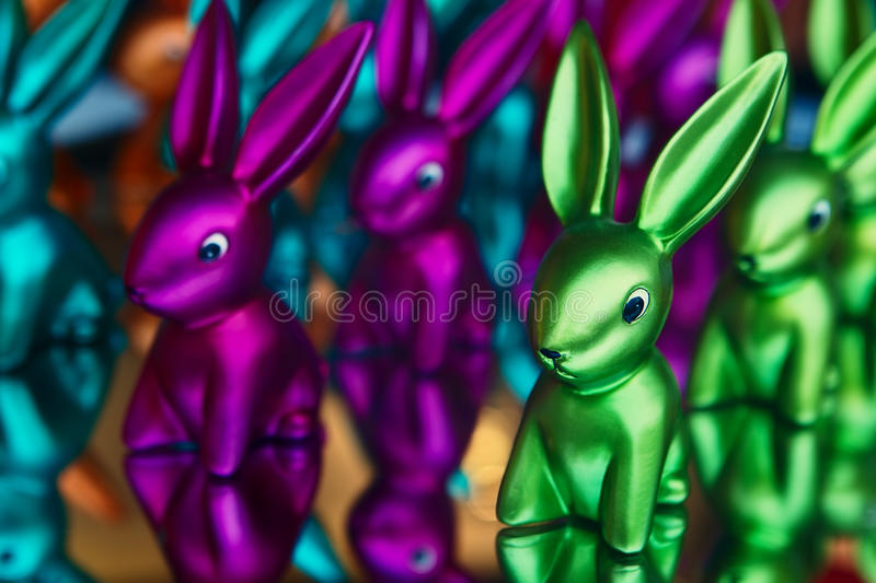 Download Many-colored rabbit stock photo. Image of glamor, reflection - 23829994
