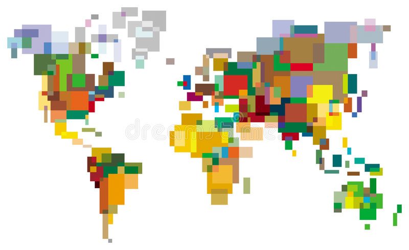 Many-colored World royalty free illustration