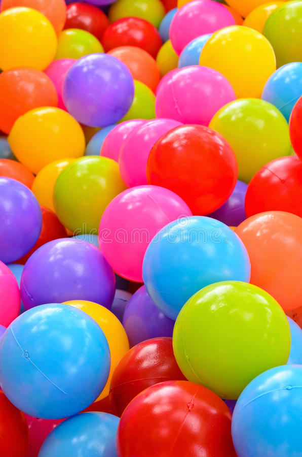 Many colorful plastic balls royalty free stock images
